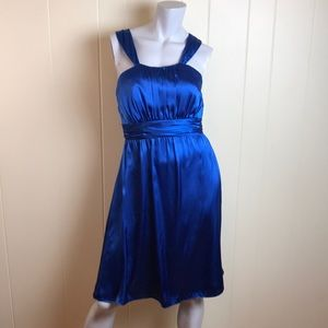 Alfred Angelo Blue Prom Party Semi Formal Dress